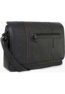 Bolsa Bennemann Carteiro Message London Masculina - Masculino-Preto