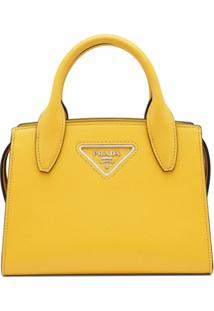 Prada Bolsa Tote Com Logo - Amarelo