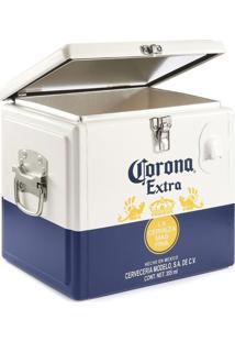 Cooler Corona 15 Litros Caixa Térmica Para Até 12 Cervejas Branco