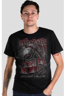 Camiseta Masculina Bandup! Aerosmith Train Kept A Rolling - Masculino