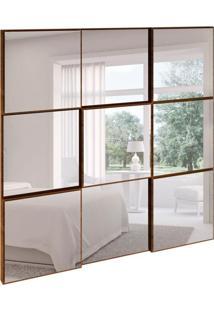 Painel Decorativo Anubis Quadrado Nobre Fosco 75 Cm