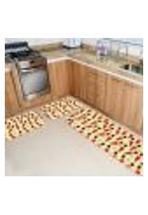 Kit 3 Tapetes Cozinha Multi Quebra Nozes Único