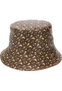 Burberry Monogram Bucket Hat - Marrom