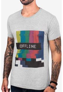 Camiseta Offline Mescla Escuro 103393
