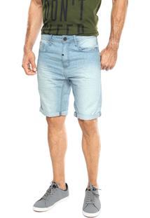Bermuda Jeans Coca-Cola Jeans Low Fit Azul