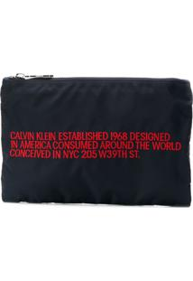 Calvin Klein 205W39Nyc Branded Small Pouch - Azul