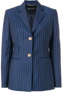 Versace Blazer Listrado - Azul
