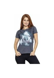 Camiseta Sideway Harry Potter Relíquias Da Morte - Preto/Cinza