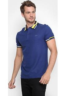 Camisa Polo Lacoste Piquet Fancy Gola Color Geométrica Masculina - Masculino