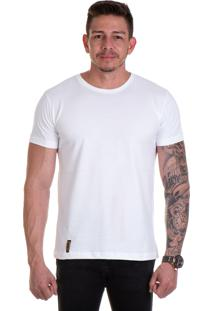 Camiseta Lucas Lunny T Shirt Gola Redonda Basica Branca