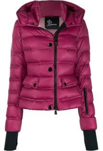 Moncler Grenoble Slim Fit Padded Jacket - Vermelho