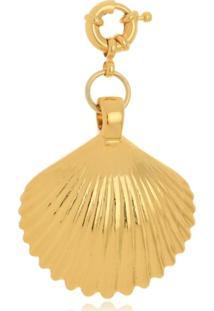 Pingente Le Diamond Concha Grande Dourada - Kanui