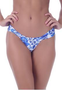 Calcinha Summer Soul Flores Do Oceano Azul