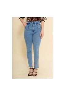 Calça Jeans Cropped Mom Flavia