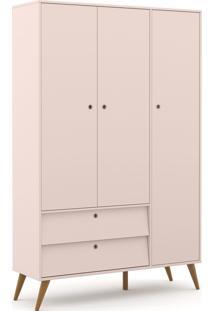 Roupeiro 3 Portas Gold Rosê/Eco Wood Matic Móveis