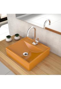Cuba De Apoio Para Banheiro Compace Ravena Q39W Quadrada Amarela