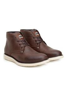 Bota Ankle Boot Classic Masculino Couro Conforto Casual Café 37 Café