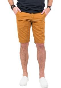 Bermuda Sarja Caramelo Skinny - Masculino