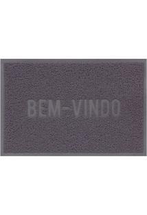 Capacho Vinílico Color Block 60X40Cm Cinza