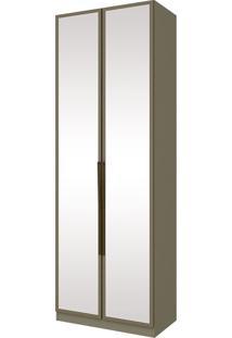 Guarda-Roupa Modulado Com 2 Portas E Espelho Exclusive M234-Henn - Duna