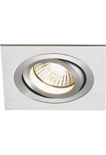 Spot Embutir Quadrado Alumínio 4Cmx12Cm E27 Bella Iluminação Caixa Com 3 Unidade Alumínio Bivolt