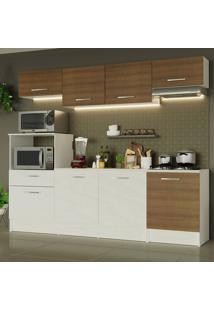 Cozinha Completa Madesa Onix 240003 Com Armã¡Rio E Balcã£O - Branco/Rustic 096E Branco - Branco - Dafiti