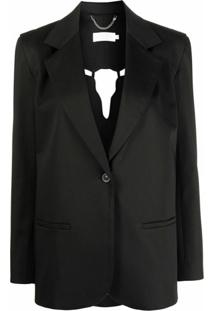 Raquette Cut-Out Single-Breasted Blazer - Preto