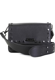 1345a96b0 R$ 159,90. Zattini Bolsa Preta Feminina Shoestock Mini Bag Tiracolo Transversal  Tachas ...