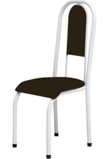 Cadeira Marcheli Anatômica 0.122 Estofada Branco/Tabaco