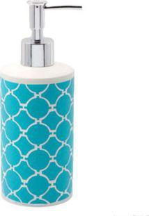 Porta Sabonete Líquido De Bancada Acqua Azul Coisas E Coisinhas