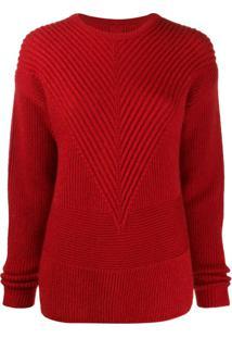 Rick Owens Suéter De Tricô Canelado - Preto