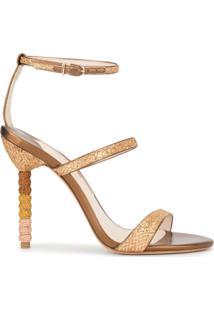 Sophia Webster Sandália Com Aplicação De Cristais 'Rosalind' - Dourado