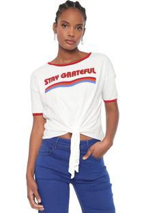 Camiseta Dzarm Lettering Off-White