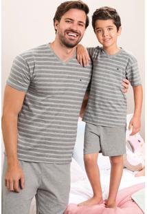 Pijama Listrado Sustentável Adulto Malwee Liberta