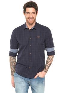 Camisa Triton Listras Azul-Marinho