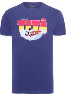 Camiseta Masculina Tita - Azul