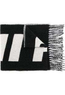 Ami Paris Echarpe Com Logo - Preto