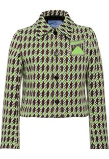 Prada Technical Jacquard Jacket - Marrom