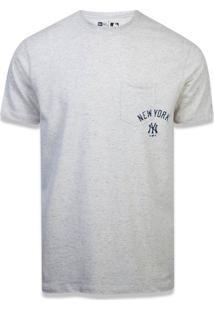 T-Shirt New Era Regular New York Yankees Areia Branco