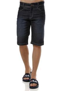 Bermuda Jeans Masculina Elétron Azul