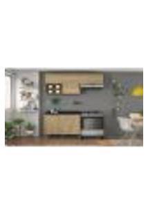 Cozinha Compacta Clean 4 Pt 3 Gv Nogueira Messina E Preta