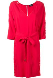 Elisabetta Franchi Vestido Com Cinto - Vermelho