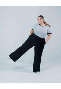 Camiseta Almaria Plus Size Miss Taylor Listrada Ci