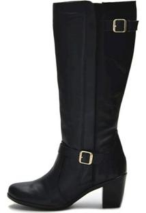 Bota Atron Shoes Fivela - Feminino-Preto
