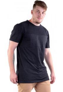Camiseta Alongada Metalasse Com Zíper Lateral