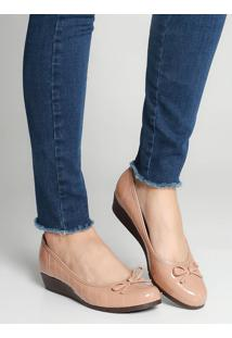 Sapato Anabela Moleca Matelassê