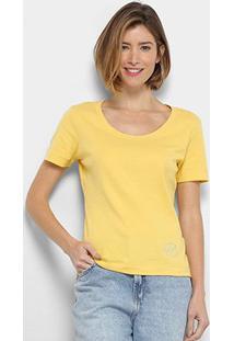 Camiseta Ellus Gola Ampla Feminina - Feminino