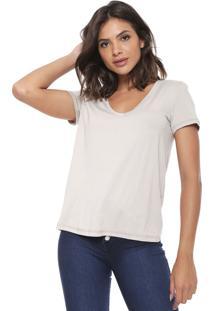 Camiseta Forum Lisa Bege