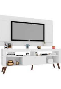 """Rack Com Painel Para Tv De Até 65"""" Polegadas Itália – Art In Móveis - Branco"""