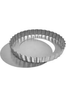 Forma De Alumínio Para Torta Fundo Removível Doupan 28X3Cm - 9190